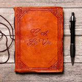 """C'est La Vie"" Handmade Leather Journal - The Nomadic Attic"