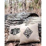 Sourpuss Get Lost Burlap Pillow - The Nomadic Attic