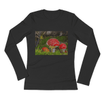[the_nomadic_attic]:Sweet Little Mushrooms Ladies' Long Sleeve T-Shirt