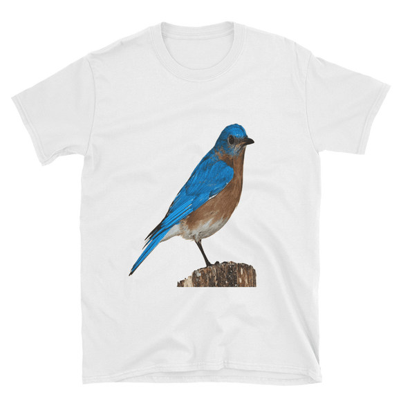 Blue Bird Short-Sleeve Unisex T-Shirt - The Nomadic Attic