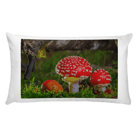 [the_nomadic_attic]:Sweet Little Mushroom Rectangular Pillow