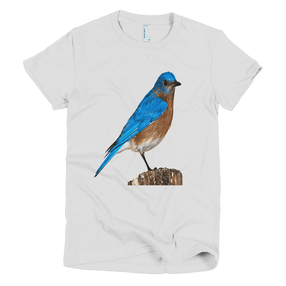 Blue Bird Short sleeve women's t-shirt - The Nomadic Attic