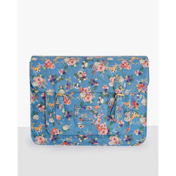 'Satty' Dog Floral Satchel by LindyBop - The Nomadic Attic