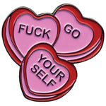 Sourpuss Candy Hearts Pin - The Nomadic Attic