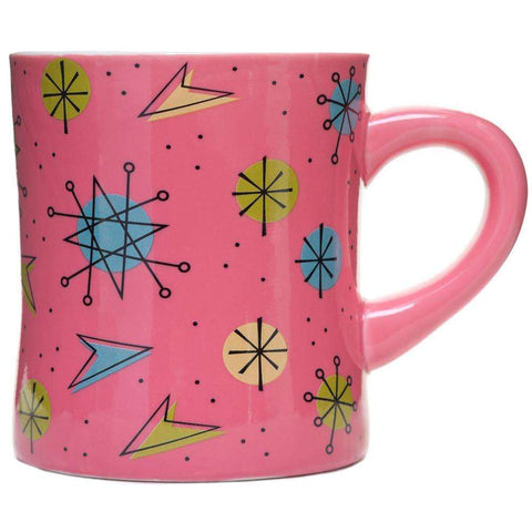 SOURPUSS SPUTNIK DINER MUG PINK - The Nomadic Attic