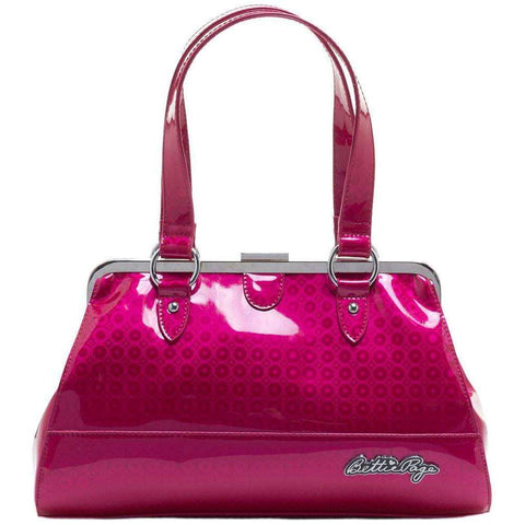 SOURPUSS BETTIE PAGE CENTERFOLD PURSE PRISMA PINK - The Nomadic Attic