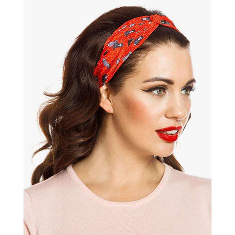 Red Cat Print Turban Headband by LindyBop - The Nomadic Attic