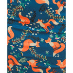'Vanessa' Indigo Fox Print Pencil Dress by LindyBop - The Nomadic Attic