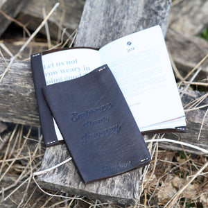 Black Leather Devotional Book Cover