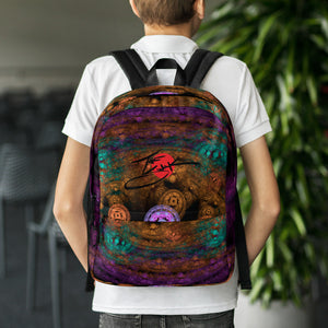 Purple Virus Fractal Backpack