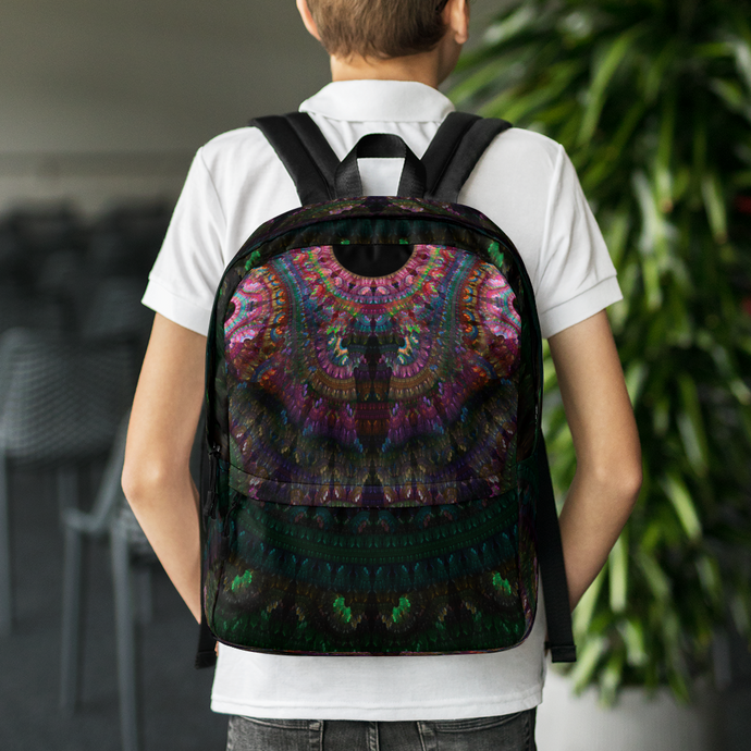 Indian Green Blanket Backpack