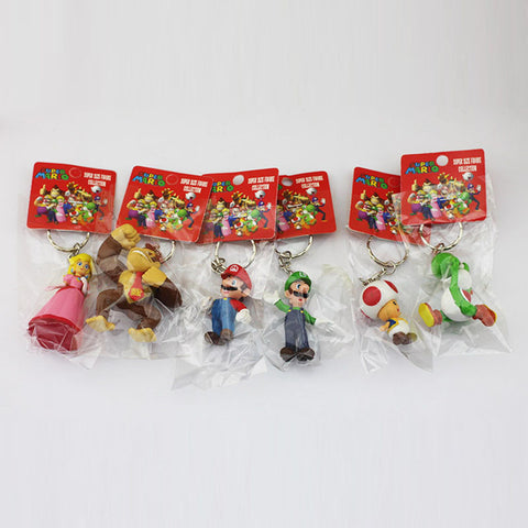 Shareable (or not) 6pc Mario Brothers Keychains