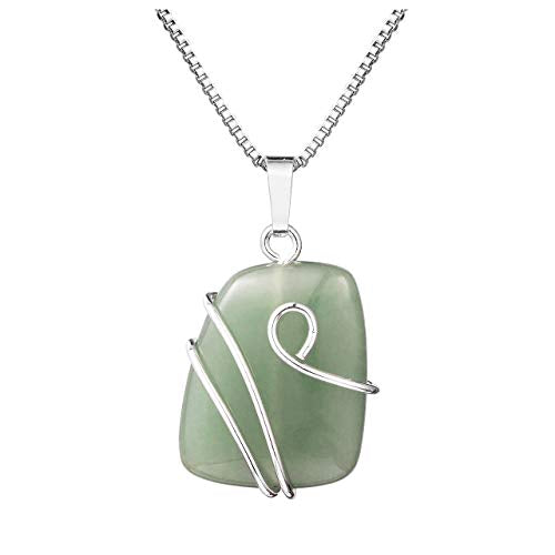 Green Aventurine Natural Gemstone Pendant Necklace