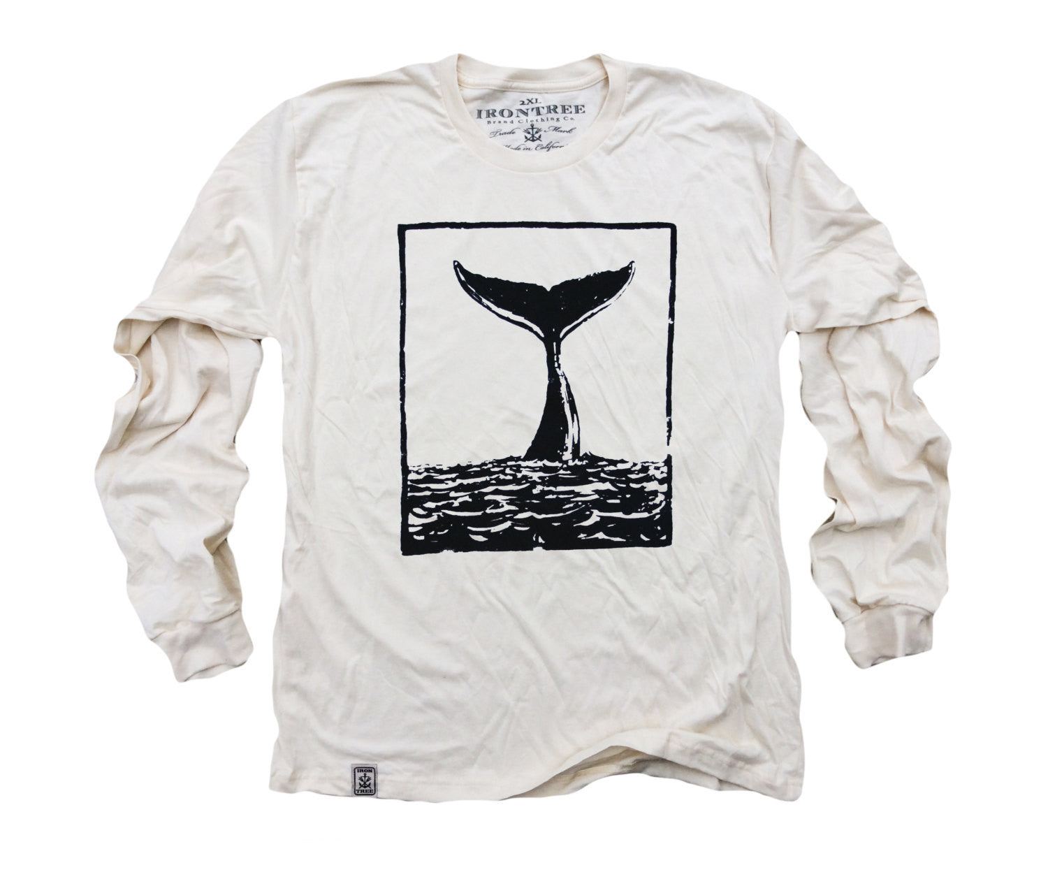 The Tale of the Whale: Organic Fine Jersey Long Sleeve T-Shirt in Unbleached Natural