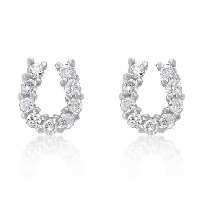 Lucky Horseshoe Earring Set