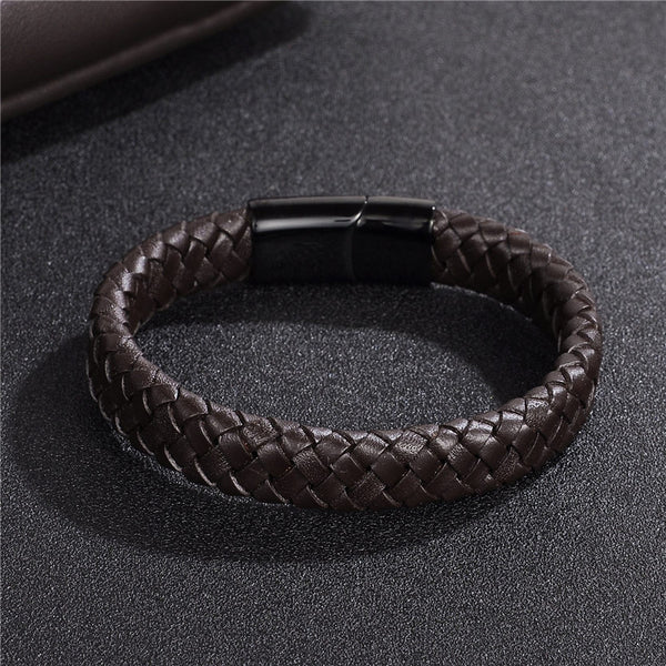 Brown Leather Band Bracelet