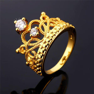 Gold Tiara Ring