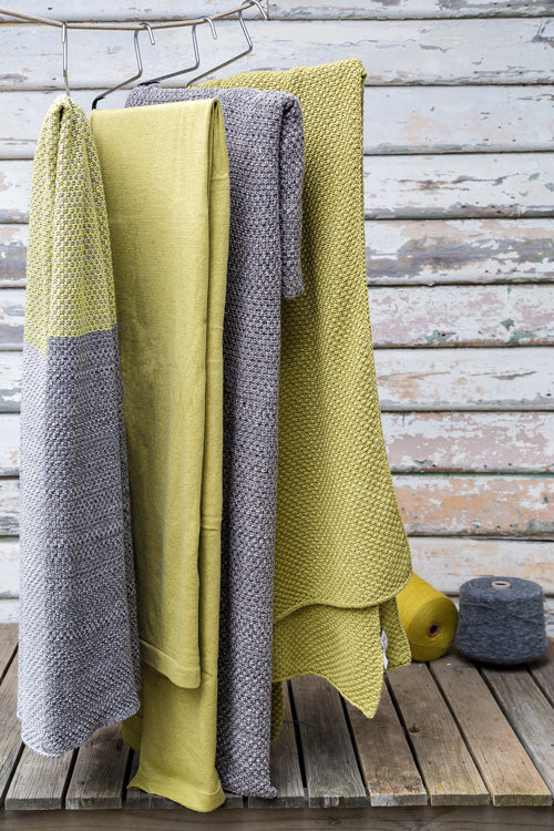 chunky moss cotton knit blankets Luna Home