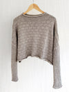COTTON Textured Knit Jumper . . . Linen