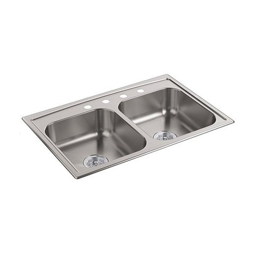 Toccata Top-Mount Double-Equal Bowl Kitchen Sink