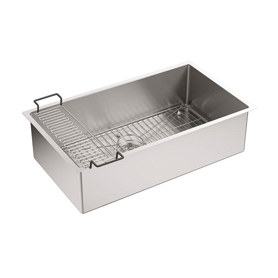 Strive Under-Mount Single-Bowl Kitchen Sink with Accessories