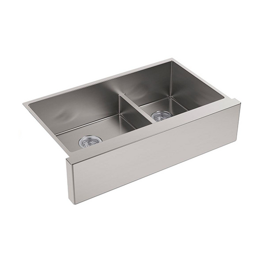 Strive Self-Trimming Under-Mount Double-Bowl Tall Apron Kitchen SinK