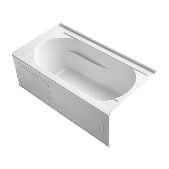 "Devonshire 60"" x 32"" Alcove Bathtub with Integral Apron and Flange and Right / Left-Hand Drain"