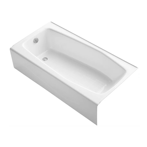 "Villager 60"" x 30"" Alcove Bathtub with Integral Apron and Right / Left-Hand Drain"