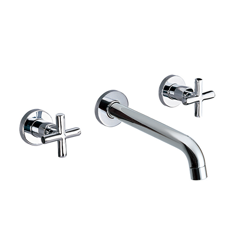 AB03 1035 Wall-Mount Double-Handle Concealed Washbasin Mixer Lavatory Faucet