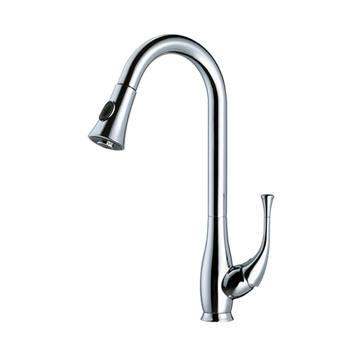 AB50 3091 Single Lever-Handle Kitchen Faucet With Push Button Pull Out Spray