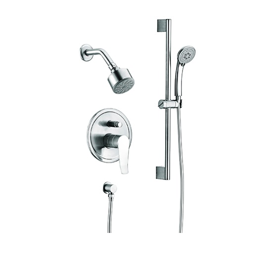 Everglades Wall Mounted Shower Head With Slide Bar Hand Held Shower Combo  Set