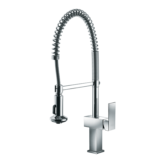 Delicieux AB75 3383 Single Handle Pull Out Spring Kitchen Faucet