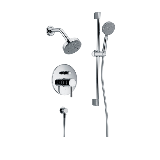 Grand Canyon Wall Mounted Shower Head With Slide Bar Handle Held Shower  Combo Set