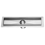 "Stainless Steel Shower Drain Channel for Hot Mop (12,24,32,36,47""L)"