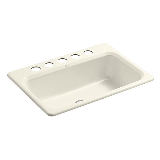 Bakersfield Under-Mount Single-Bowl Kitchen Sink