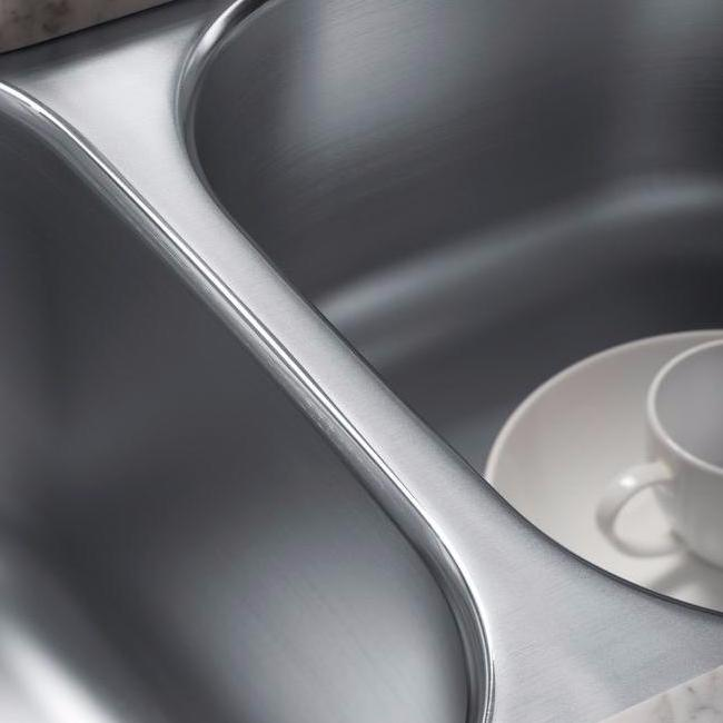 Understone Under-Mount Extra Double-Bowl Kitchen Sink