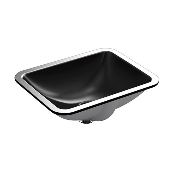 Caxton Rectangle Under-Mount Ceramic Bathroom Sink with Overflow and Clamp Assembly