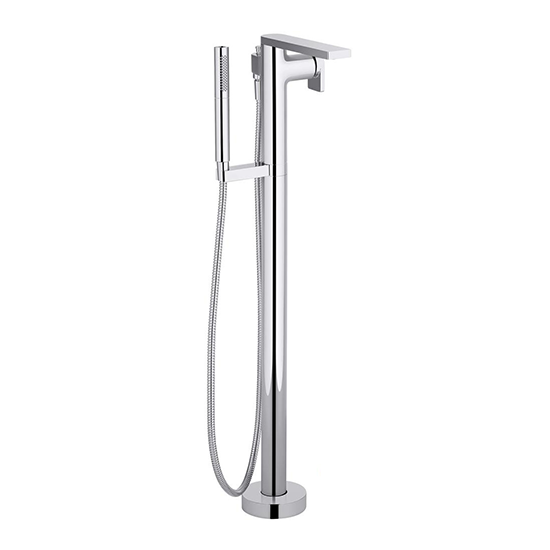 Composed Floor-Mount Freestanding Bathtub Faucet
