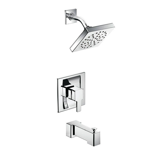 90 Degree Chrome Posi-Temp Tub and Shower Faucets