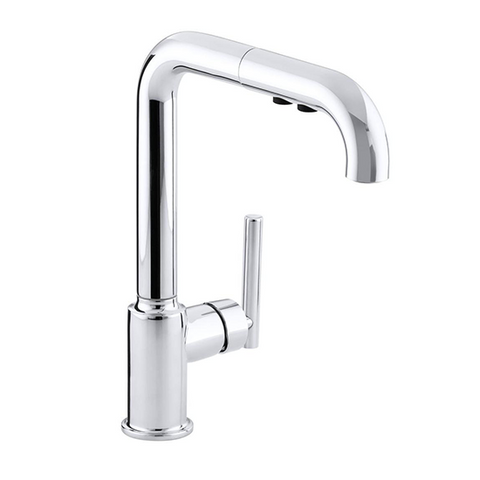Purist Single-Hole Pull-Out Sprayer Lever Handle Kitchen Faucet