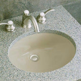 Caxton Oval Under-Mount Ceramic Bathroom Sink with Clamp Assembly