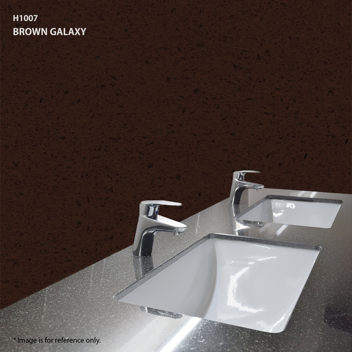 Quartz Vanity Top in Brown Galaxy