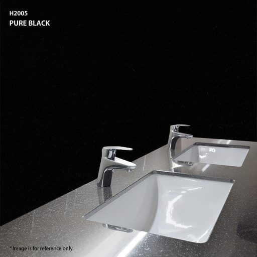 Quartz Vanity Top in Pure Black