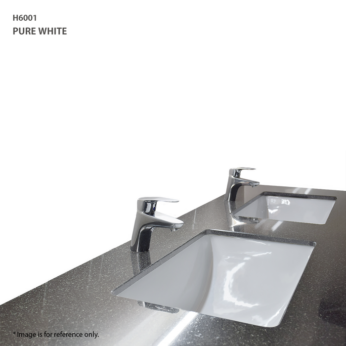 Quartz Vanity Top in Pure White