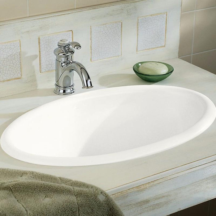 Vintage Oval Under-mount Ceramic Bathroom Sink with Overflow