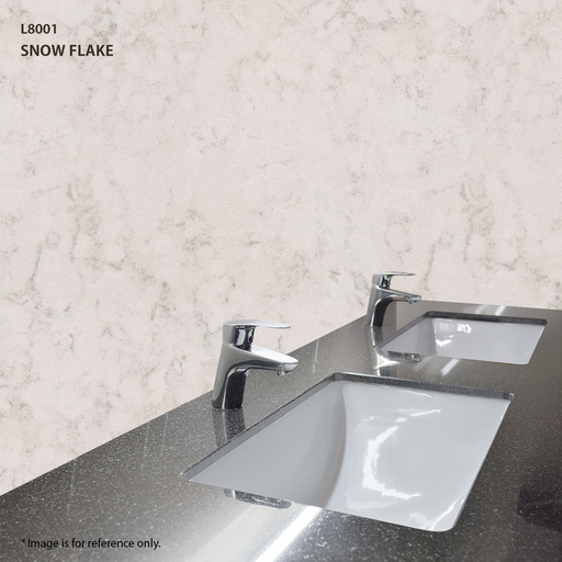 Quartz Vanity Top in Snow Flake