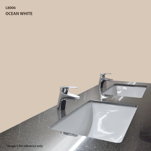 Quartz Vanity Top in Ocean White