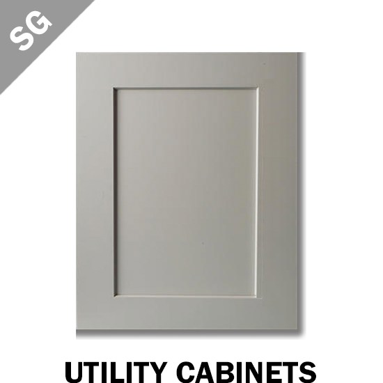 SHAKER PEARL GREY - UTILITY CABINET