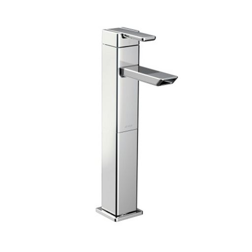 90 Degree Single-Handle High Arc Vessel Bathroom Faucet