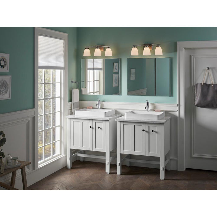 Vox Rectangle Vessel Bathroom Sink With Single Faucet Hole